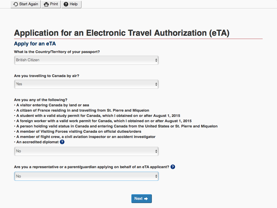 ETA application – 1